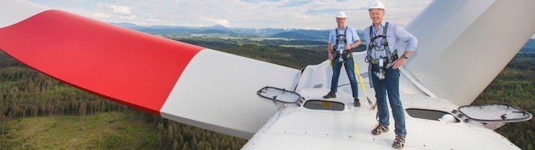 Bericht von Erwin Moser, Mitbegründer des Windparks