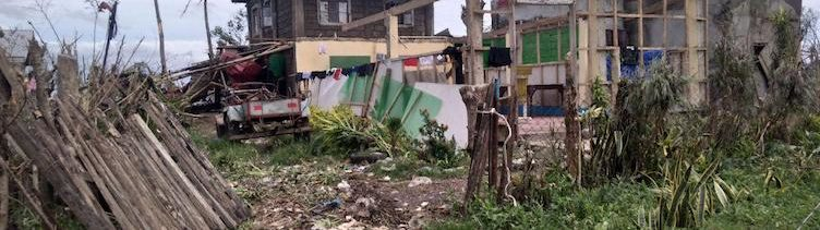Der Wirbelsturm Mangkhut richtet schwere Schäden an und fegt zahlreiche Existenzen weg.