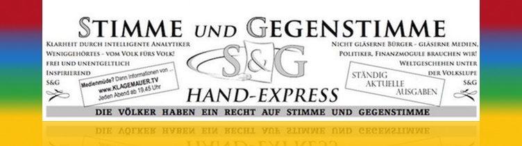 Das aktuelle medienunabhängige S&G Flugblatt zur Meinungsbildung