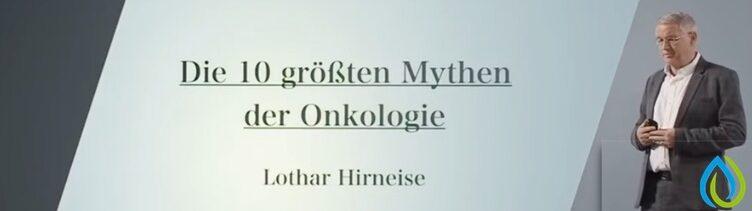 Krebsforscher Lothar Hirneise klärt(räumt) in einem Vortrag auf